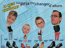 Publicité 1996  LA HALLE AUX CHAUSSURES chaussure pret à porter collection mode