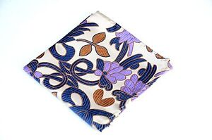 Lord R Colton Masterworks Pocket Square - Jacaranda Platinum Silk - $75 Retail