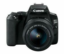 Canon EOS 250D (Rebel SL3) DSLR Camera w/ 18-55m DC Lens (International Model)