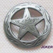 Rivets texas étoile gris 4 pièces 2,5 cm arrivant à Concho Conchas star Lone star state