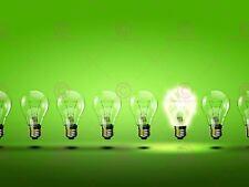 PAINTING GREEN LIGHT BULB BRIGHT ENERGY ART PRINT POSTER MP3120A