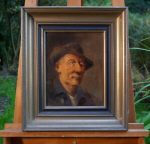 Old Oil Painting Signed Male Portrait Perfect Künstlerarbeit