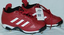 Adidas shoes Red & White baseball cleats size 7.5 leather Excelsior Mid NWT mint