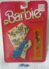 New Barbie Fashion Collectible ~ Vintage 1984 ~ Blue/White Print+Shoes Outfit
