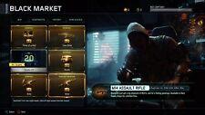 Black Ops 3 niveau 1000 Master Prestige PS4 over 70 Supply Gouttes empilés compte