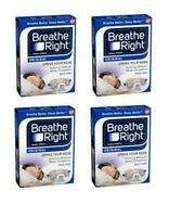 *120 Breathe Right Strips - (4) 30 ct Dark Blue Boxes - ORIGINAL TAN, Size Large