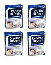 *120 Breathe Right Strips - (4) 30 ct Dark Blue Boxes - ORIGINAL TAN, Size Large