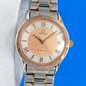 Mens Omega Speedmaster 18K ROSE Gold & SS watch - Automatic - Gold / Silver
