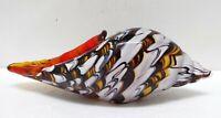 Murano Style Art Glass Conch Shell