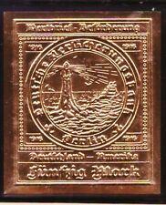 """1916 U-BOOT-MARKE aus der Sammlung """"Raritäten in Gold"""""""