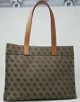 NWOT Dooney and Bourke Brown Tan Logo Monogram Handbag Purse Tote Satchel