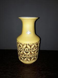 alte Ü-Keramik Vase gelb 50er 60er Jahre pottery yellow 50s60s Übelacker vintage
