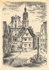 Neckarsulm, Künstlerkarte Ludwig Schäfer-Grohe, um 1950