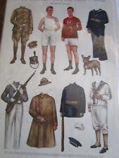 1917 Sheila Young Betty Bonnet'S Paper Doll Army & Navy Cousins Uncut