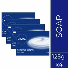 NIVEA Soap, Creme Care, 125g Soft, Clean, Moisturize (Pack of 4)+ Free Shipping
