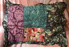 Anthropologie Quilted Floral Pillow Sham Case Patchwork Standard` Pretty!