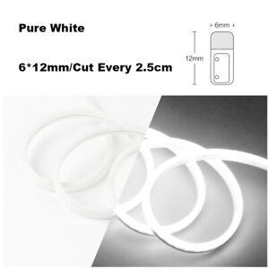 Pure White DC12V Silicone LED Rope Light Fairy Lights for Xmas Wedding Signs
