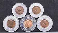 Lot of Five Encased Cents (E-306)