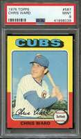 1975 TOPPS #587 CHRIS WARD RC ROOKIE CUBS CENTERED  *K1779