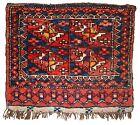 Handmade antique Uzbek bag face 1.4' x 1.6' ( 42cm x 48cm ) 1870 - 1B352