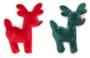 NEW Green or Red Holiday Tuff Reindeer Plush Dog Toy (Limited Edition)West Paw
