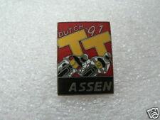 PINS,SPELDJES DUTCH TT ASSEN OR SUPERBIKES MOTO GP 1991 DUTCH TT ASSEN