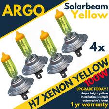 4 X H7 100w Super Yellow Xenon Upgrade Headlight Bulbs Set 499 12v Full/dipped