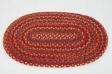 Vintage Red Braided Rug Artisan Dollhouse Miniature 1:12