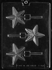 STAR LOLLY POP mold chocolate candy soap making favors stars you are a star