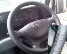 FOR VW LT VAN MK2 1996-2003 REAL BLACK LEATHER STEERING WHEEL COVER BEST QUALITY