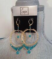 Sequin New York Gold Plated Chandelier Earrings