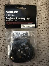Shure Earphone Accessory Cable cbl-m+-K-Efs For iPod iPhone iPad w/Remote & Mic