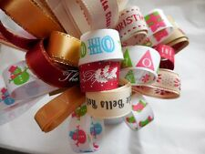 Christmas Theme Ribbon Bundle 8 X 1Mtr Made from Berisfords Ribbons