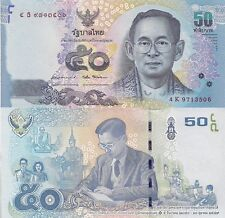 Thailand 50 Baht Banknote World Paper Money Unc Currency p-131 2017 King Rama Xi