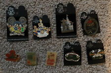 Walt Disney World Vintage Pins Lot Of 9 Nice Assortment