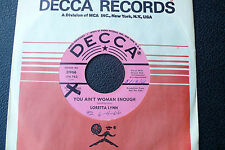 "7"" Loretta Lynn - You Ain't Woman Enough - US DECCA Promo"