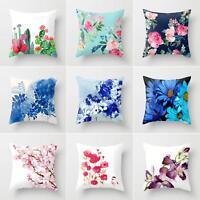 GI- Flower Plant Pillow Cover Pillowcase Sofa Couch Cushion Cover Home Decor Eye