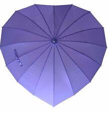 Ladies Umbrella Heart Shaped & Wind Resistant in Purple Lilac - Weddings - New