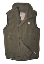 Bench - Mens S - NWT - Army Brown Asymmetrical Zip Sherpa Fleece Vest Jacket