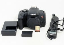 Canon EOS Rebel T7i 24.2MP Digital SLR Camera Body ONLY 17K SHUTTER COUNT 32GB