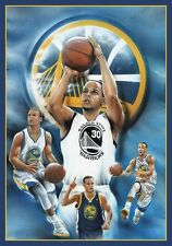 STEPHEN CURRY 24x36 poster SPLASH BROTHERS GOLDEN STATE WARRIORS HISTORY SHOOTER