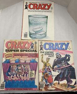 Crazy Magazine Comic Lot Of 3 1980-1982
