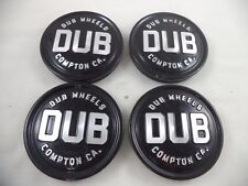 DUB Baller Gloss Black Custom Wheel Center Cap # 0095K80-95-04GB (4 CAPS)