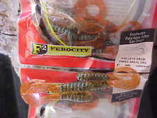 "YUM 4"" Walleye Grub Bass, Walleye/Australian Flathead YUMWG449 PMPKN GRN ORANGE"