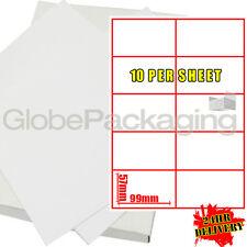 500 Hojas De Impresora dirección Etiquetas de Laser 10 Por Hoja