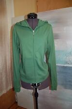 Juicy Couture Green Cotton/Polyester Hooded Zip Closure Sweatshirt Jacket Size L