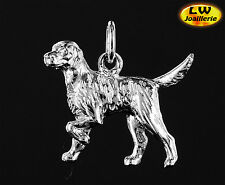 Pendentif  GOLDEN RETRIEVER en 3D - Pendant GOLDEN RETRIEVER DOG