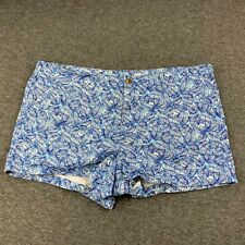GAP WOMEN SIZE 16 REGULAR GEOMETRIC PATTERN CHINO SHORTS EUC