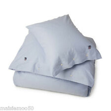 LEXINGTON ICONS PIN POINT OXFORD SUPER KING DUVET IN BLUE, BRAND NEW WITH TAGS
