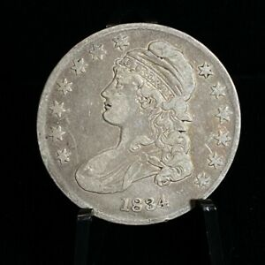 1834 - Silver 50C Capped Bust Half Dollar Coin